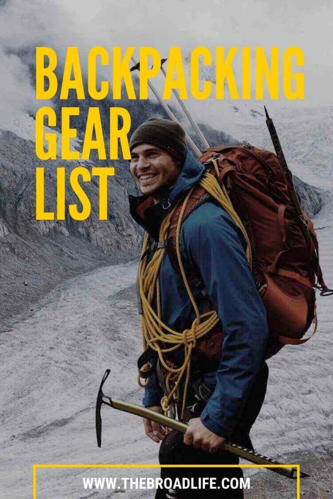 essentials backpacking gear list - the broad life's pinterest board