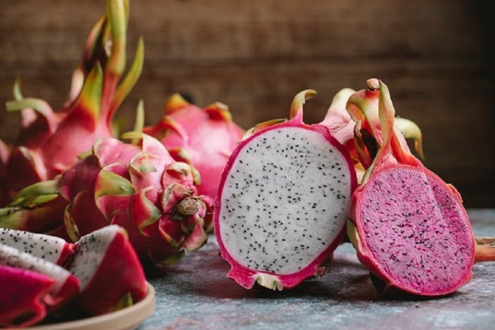 Vietnam white and red dragon fruit