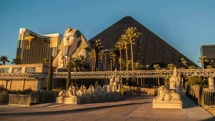 Luxor Hotel Casino is one of the biggest hotels in Las Vegas, USA