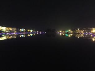 Sapa's center lake at night