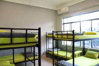 bedroom with AC inside at O.M.E hostel - Quy Nhon, Vietnam