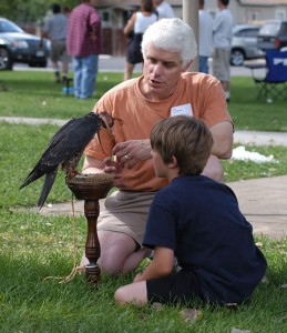 Dan with Peregrine and unknown Boy at a Picnic in 2005