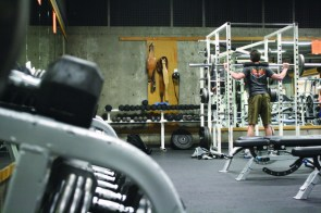 Mazama gym is one place for students to get fit in the new year. Darwin Ikard The Broadside
