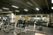 Mazama Hall weight room closed for drop-ins due to COVID-19. Photo by Kayla Scott on Thursday April 16.