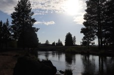 Deschutes river by Fred-Myers and Highway 97. April 30 photo by Kayla Scott.