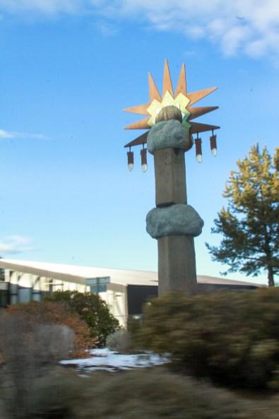Sculpture: Sunrise Spirit Column by David Govedare / Photo by Roman Russell