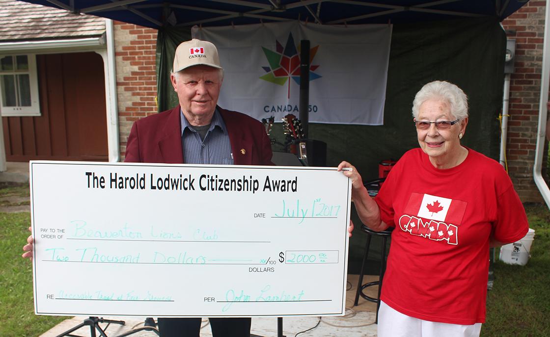 John Lambert wins Harold Lodwick Citizenship Award