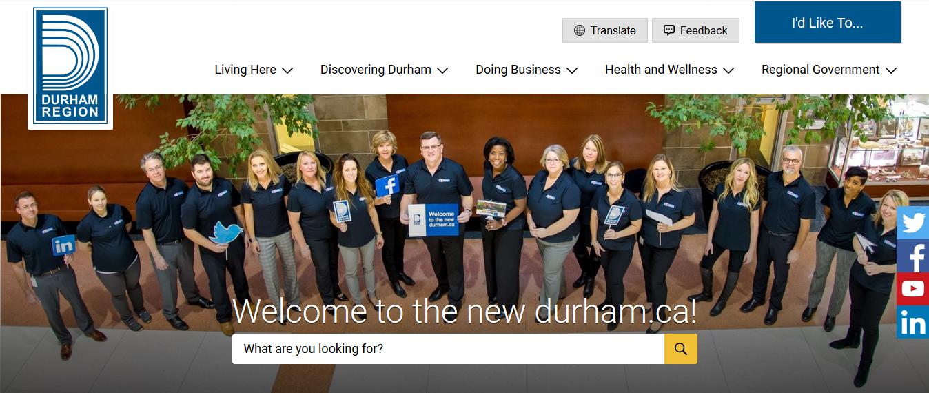 Durham Region launches new website