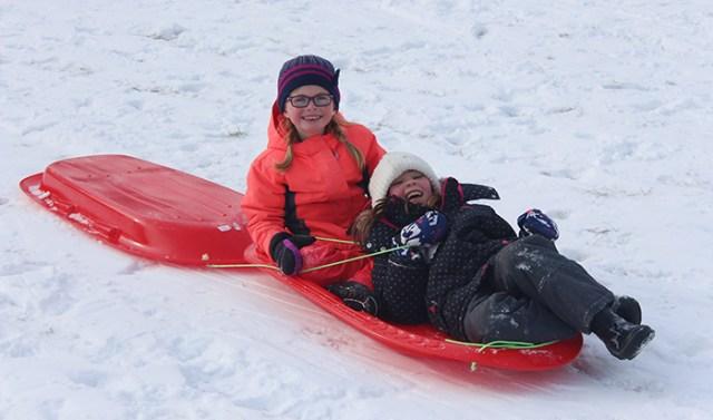 sledding wide