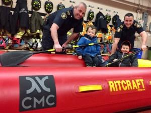 Brock Fire department raft