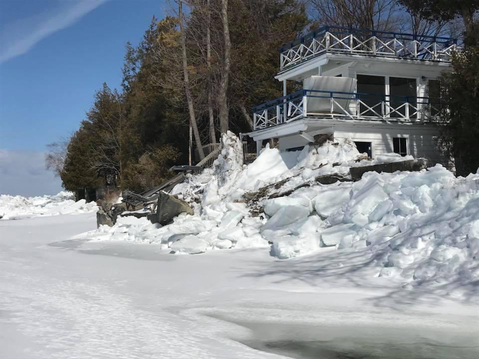 Ice from Lake Simcoe wreaks havoc along Beaverton shoreline