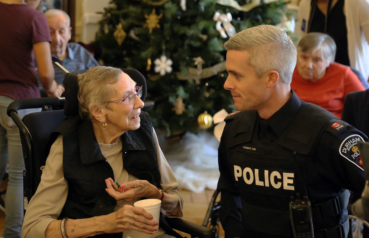 Officers with the DRPS visiting long-term care homes