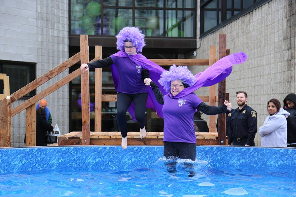 Members of the DRPS take the plunge for Special Olympics