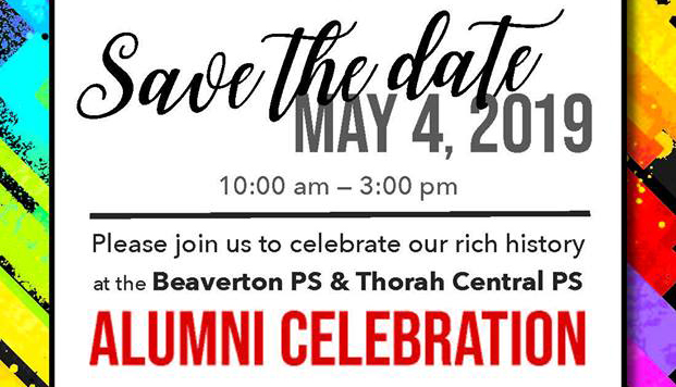 Alumni celebration set for May 4 at Beaverton and Thorah Central public schools