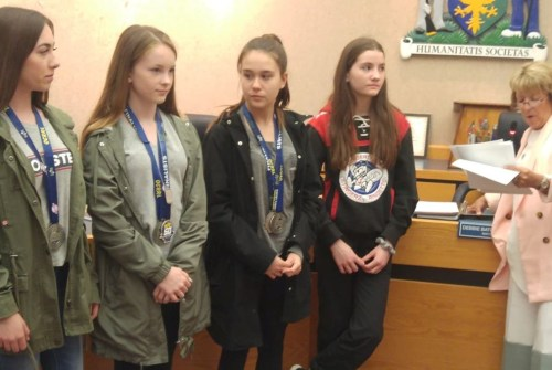 Ringette teams recognized by township council
