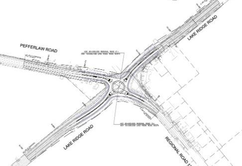 Construction of roundabout near Wilfrid finally getting underway