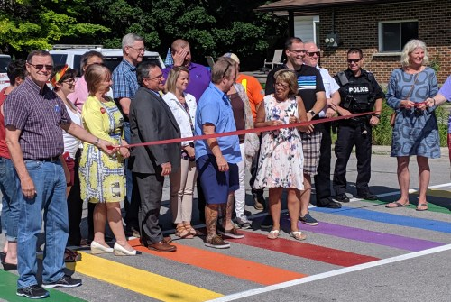 Rainbow crossings officially unveiled in Brock