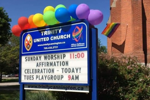 Pride flag goes missing from Trinity United Church in Cannington
