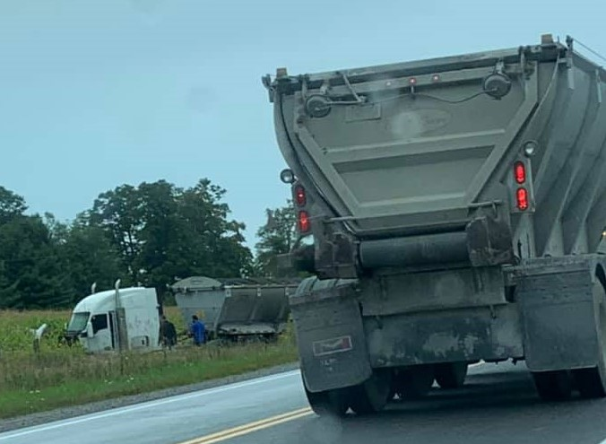 Woman suffers minor injuries in accident with gravel truck on Highway 12