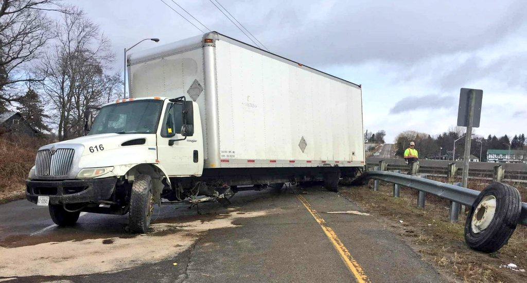 One person injured following accident involving truck on Highway 35/115