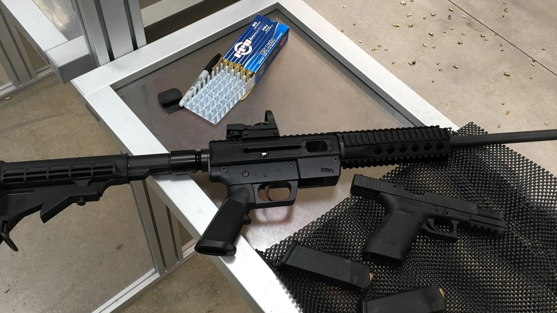 Police searching for a dozen stolen firearms