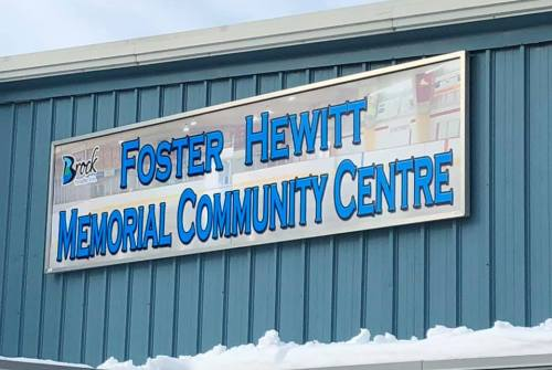 New signs for Beaverton arena honour Foster Hewitt