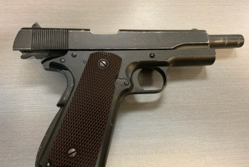 Four people charged after handgun, suspected cocaine seized by police