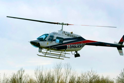Police helicopter tracks vehicle from Oshawa to North Durham