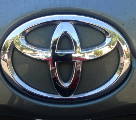 The iconic Toyota badge. 2008 Camry