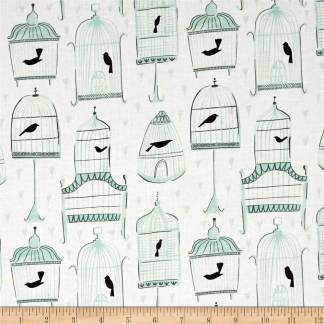 Dear Stella Perch Birdcages Fabric 0476742
