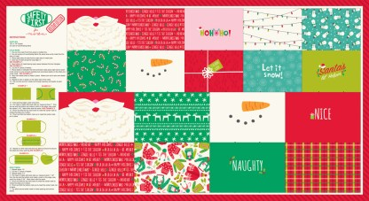 "Moda - Safety First Holiday Panel 24"" x 44"" by Stacy Iest Hsu"