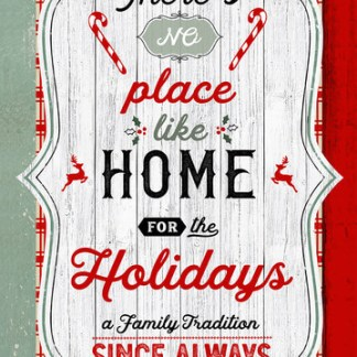 "Christmas Memories - 24"" Word Panel - 5253P-81 Red/Teal"