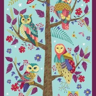 Blank Quilting - Owl Prowl - Digital Panel -1133P-11