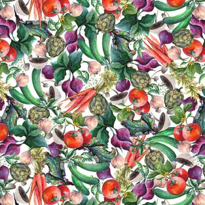 Blissful Bounty - Digital - Small Veggie Collage - 1330-01