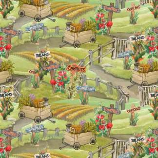 Blissful Bounty - Digital - Scenic Veggie Garden- 1332-60