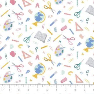 Camelot Fabrics - Teachers Rule - Back to School - Pastel