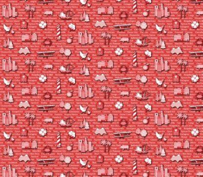 All Carolinas Shop Hop 2021 Fabric - 13545-CarolinasCities --Red-10