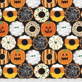 Boolicious by Maude Asbury for FreeSpirit - Creepy Crullers - Black