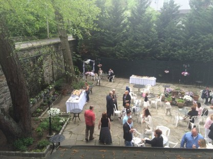 Patio Wedding reception