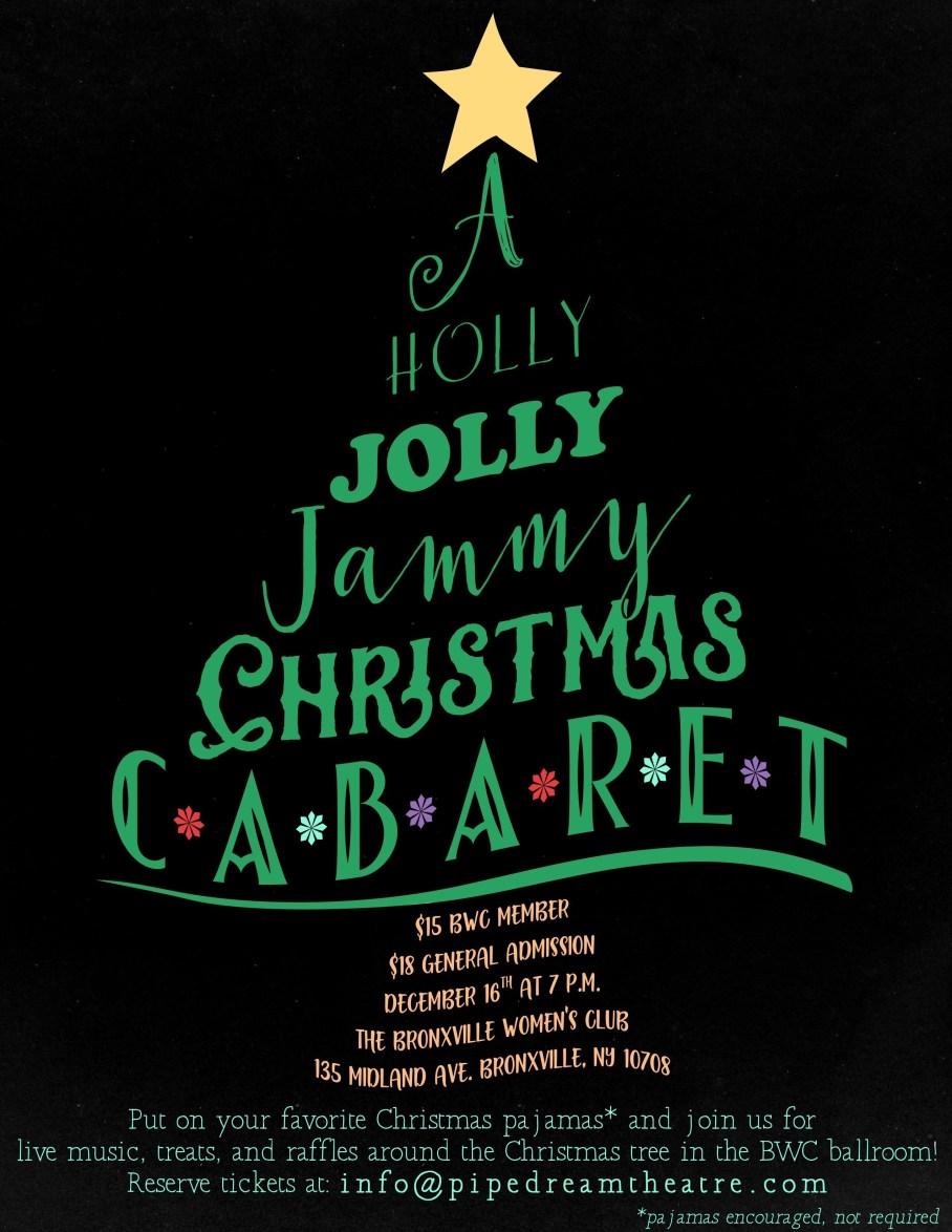 music, cabaret, holiday, holly, jammy, pajamas, Chrostmas
