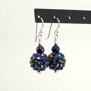 iris midnight disco earrings