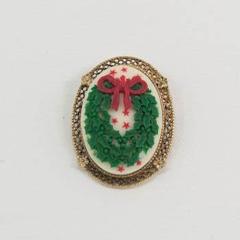 Victorian Vintage Christmas Brooch