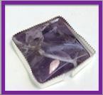 square amethyst bezel