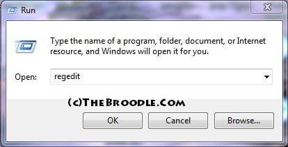 Opening Registry Editor With Windows Run