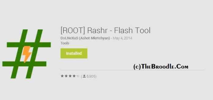 Rashr Flash Tool for Flashing Custom Recoveries