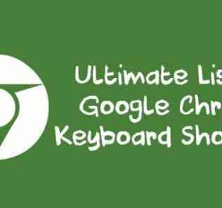 Ultimate List of Google Chrome Keyboard Shortcuts