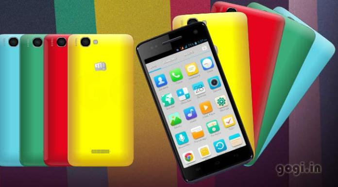 Micromax Canvas 2 colours A120 Custom Rom