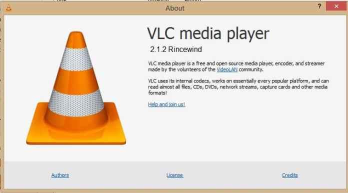 VLC Media Player 2.1.2 RinceWind