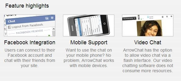 ArrowChat Features