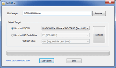Burning iso with ISO2Disc Utility